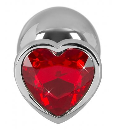 Aluminium Heart Butt Plug, Large
