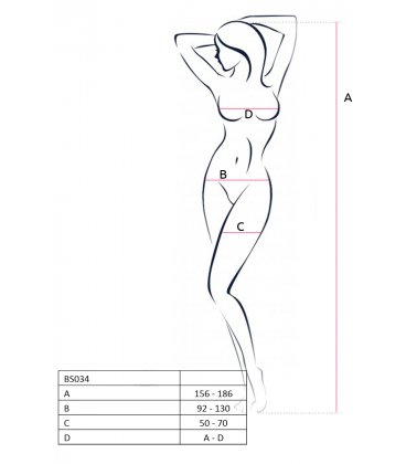 Passion - Bodystocking BS034, Red